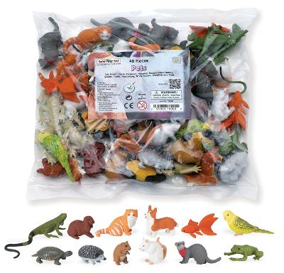 Pets Hand Painted Replica Toys 48 pieces