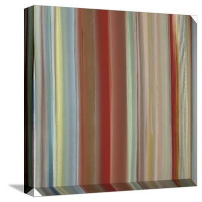 Soft Thin Vertical Stripes Warm Multicolor