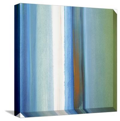 Blue, Green, White and Orange Soft Vertical Stripes