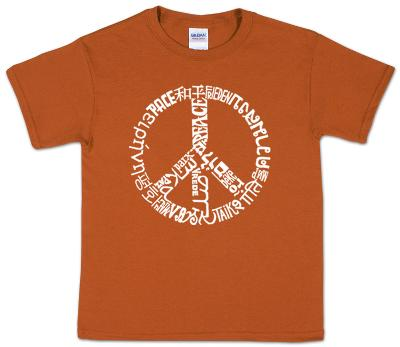 Youth: Peace T-Shirt Word art