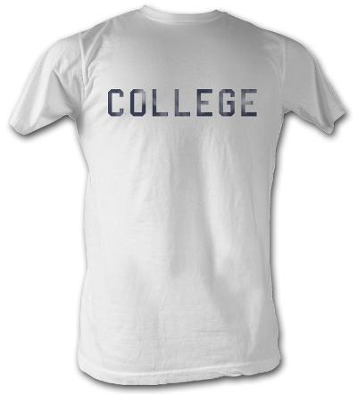 Animal House - Distressed College - White