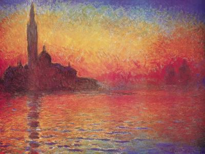 San Giorgio Maggiore by Twilight, Dusk in Venice, c.1908