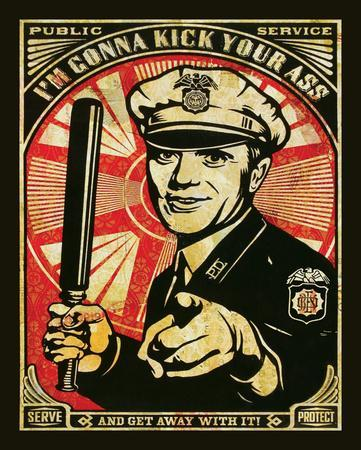 I'm Gonna Kick Your Ass - Obey Art Print Poster
