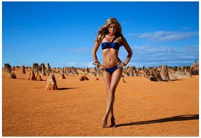 Sheridyn Fisher Red Bikini