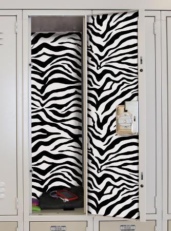 Black & White Zebra Peel & Stick Locker Skins
