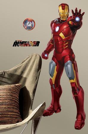 Avengers - Iron Man Peel & Stick Giant Wall Decal