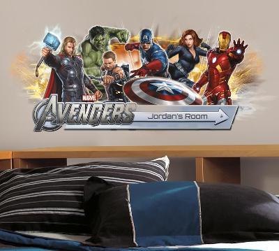 Avengers Peel & Stick Giant Headboard w/Personalization