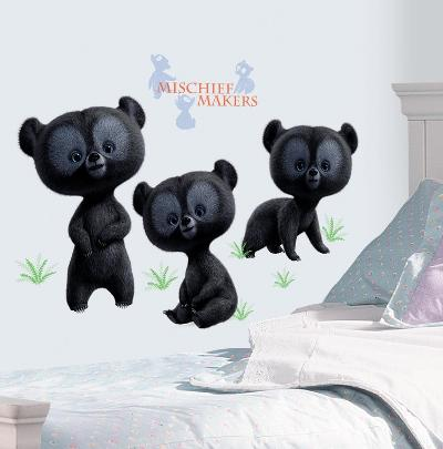 Brave - 3 Brother Bear Peel & Stick Giant Wall Decals