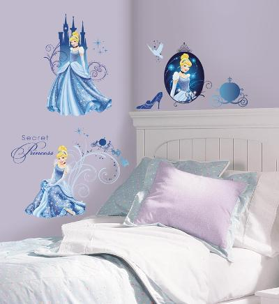 Disney Princess - Cinderella Glamour Peel & Stick Wall Decals