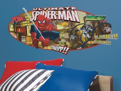 Spiderman - Ultimate Spiderman Headboard Peel & Stick Giant Wall Decal