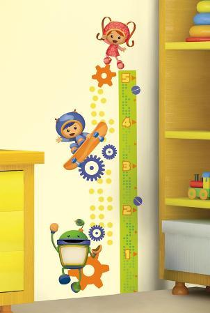 Team Umizoomi Peel & Stick Growth Chart Wall Decals
