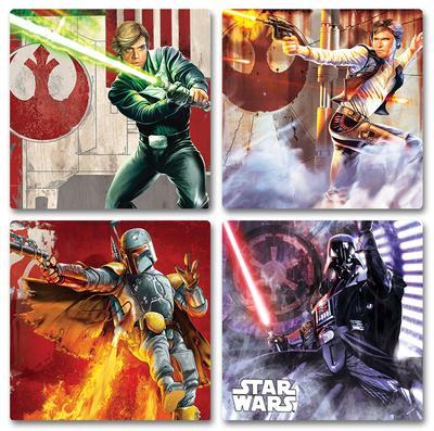 Star Wars 4pc Wood Coaster Set