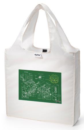 RuMe DJ Turntables Greenprint Reusable Tote Bag - Pearl
