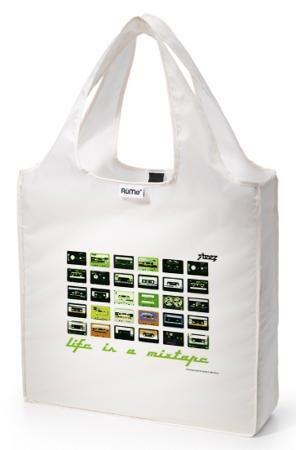 RuMe Life Is A Mixtape Reusable Tote Bag - Pearl