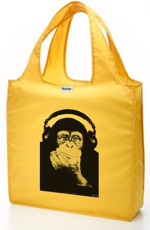 RuMe Steez Monkey Headphones Reusable Tote Bag - Mustard