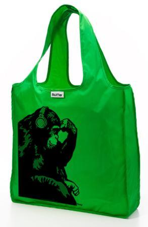 RuMe Steez Monkey Thinker Reusable Tote Bag - Grass