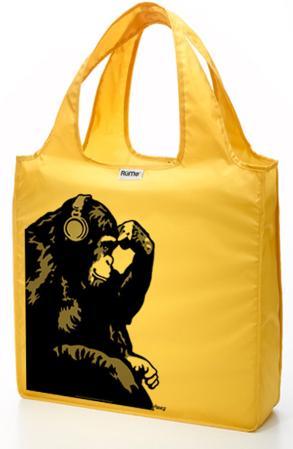 RuMe Steez Monkey Thinker Reusable Tote Bag - Mustard