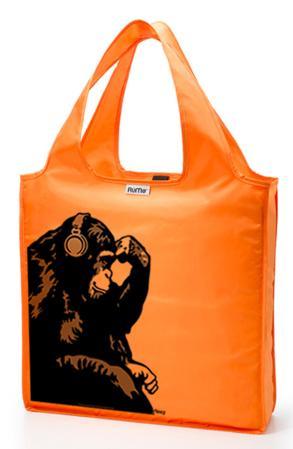 RuMe Steez Monkey Thinker Reusable Tote Bag - Tangerine