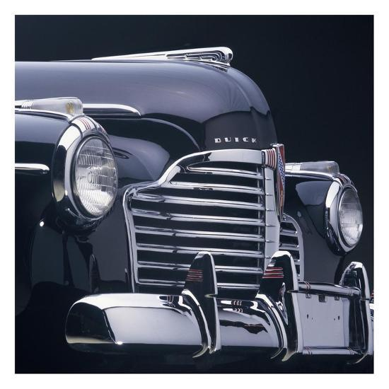 1941 Buick 40 Special: Detail Of 1941 Buick Super 4-Door Convertible Poster By