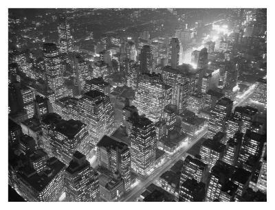 Manhattan at night, 1949