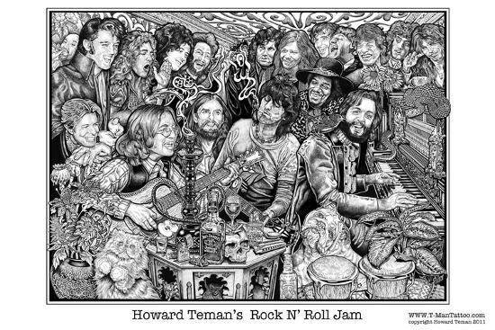 Rock N Roll Jam Posters By Howard Teman At Allposters Com