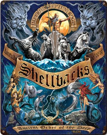 Shellbacks Ancient Order Steel Sign