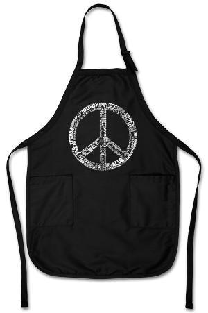 Peace Symbol In Different Languages Apron