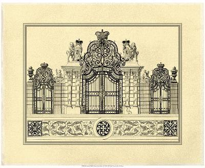 Crackled Grand Garden Gate I