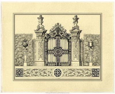 Crackled Grand Garden Gate III