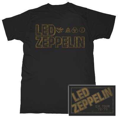 Led Zeppelin - Square Gold Logo