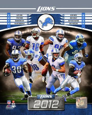 Detroit Lions 2012 Team Composite