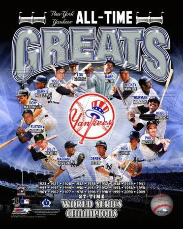 New York Yankees All Time Greats Composite