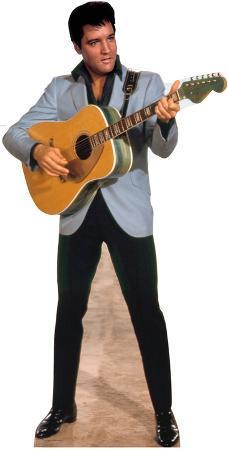 Elvis Light Blue Jacket Music Lifesize Standup