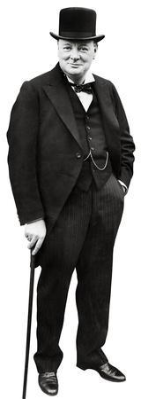 Winston Churchill Lifesize Standup