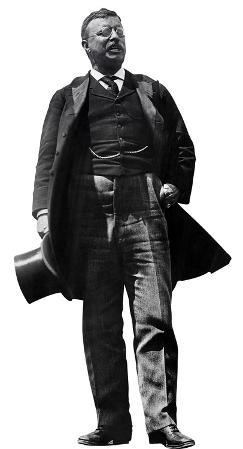 President Theodore Roosevelt Lifesize Standup