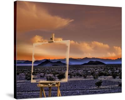 Easel in Nevada Sunset