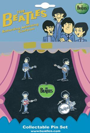 The Beatles - Saturday Morning Cartoon Badge Set