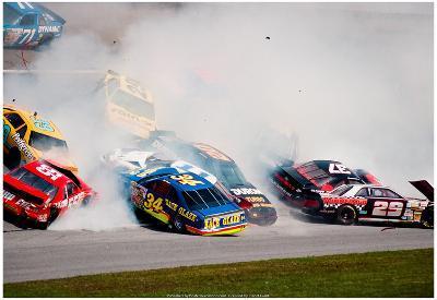 NASCAR Crash 1993 Daytona 500 Archival Photo Poster