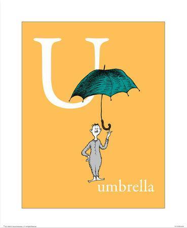 U is for Umbrella (orange)