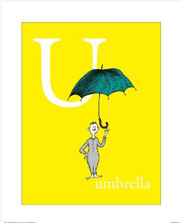 U is for Umbrella (yellow)