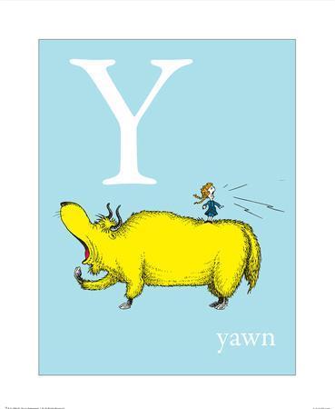 Y is for Yawn (blue)