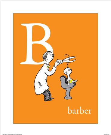 B is for Barber (orange)