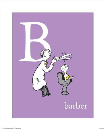 B is for Barber (purple)