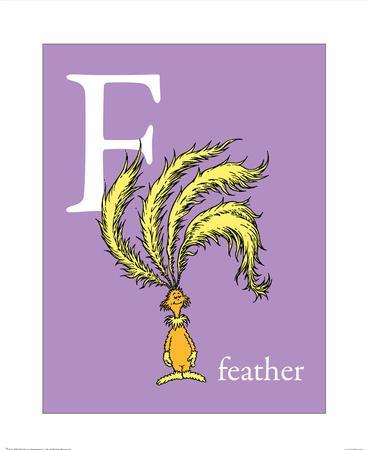 F is for Feather (purple)