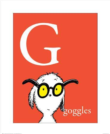 G is for Goggles (red)