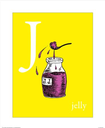 j is for jelly (yellow)