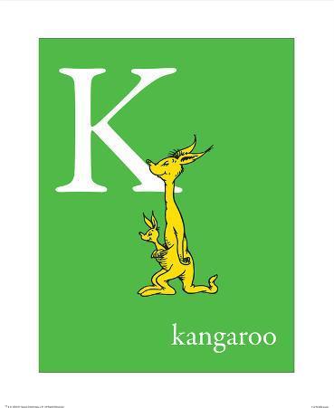 K is for Kangaroo (green)