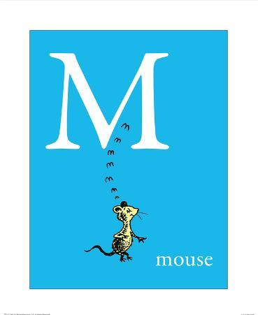 M is for Mouse (blue)