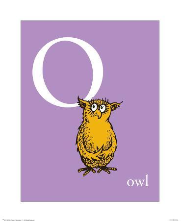 O is for Owl (purple)