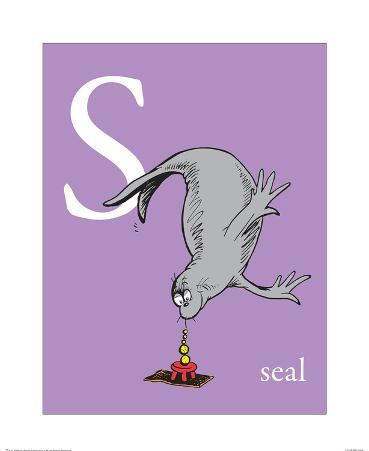 S is for Seal (purple)